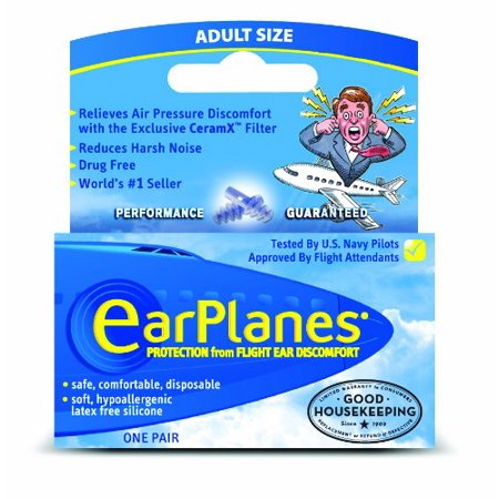 ADULT EARPLANES FLIGHT PRESSURE EAR PLUGS