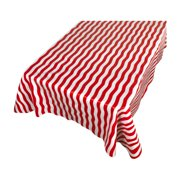 """Carnation Home Fashions """"Bold Stripe"""" Red 52""""x90"""" vinyl flannel backed tablecloth"""