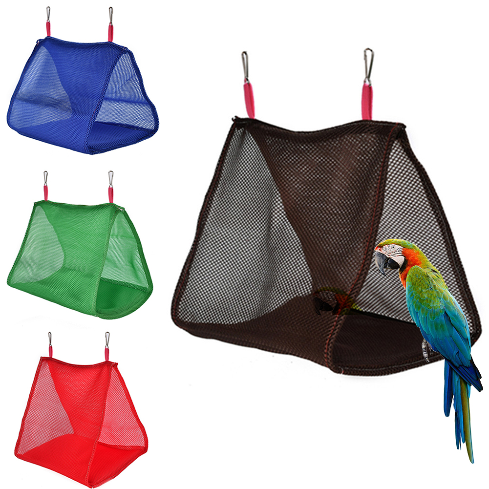 Girl12Queen Summer Parrot Birds Breathable Hammock Hanging Cave Cage Hut Tent Bed Bunk Toy