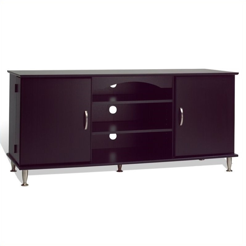"Prepac 60"" TV Stand in Black by PrePac Entertaintment Furniture"