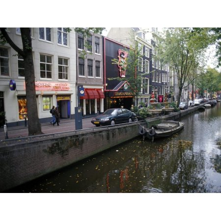 Red Light District Along One of the City Canals, Amsterdam, the Netherlands (Holland) Print Wall Art By Richard (Best Red Light District Amsterdam)