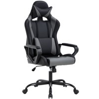 PC Gaming Chair Ergonomic Office Chair Cheap Desk Chair Executive Task Computer Chair Back Support Modern Executive Adjustable Arms Rolling Swivel Chair for Women, Men