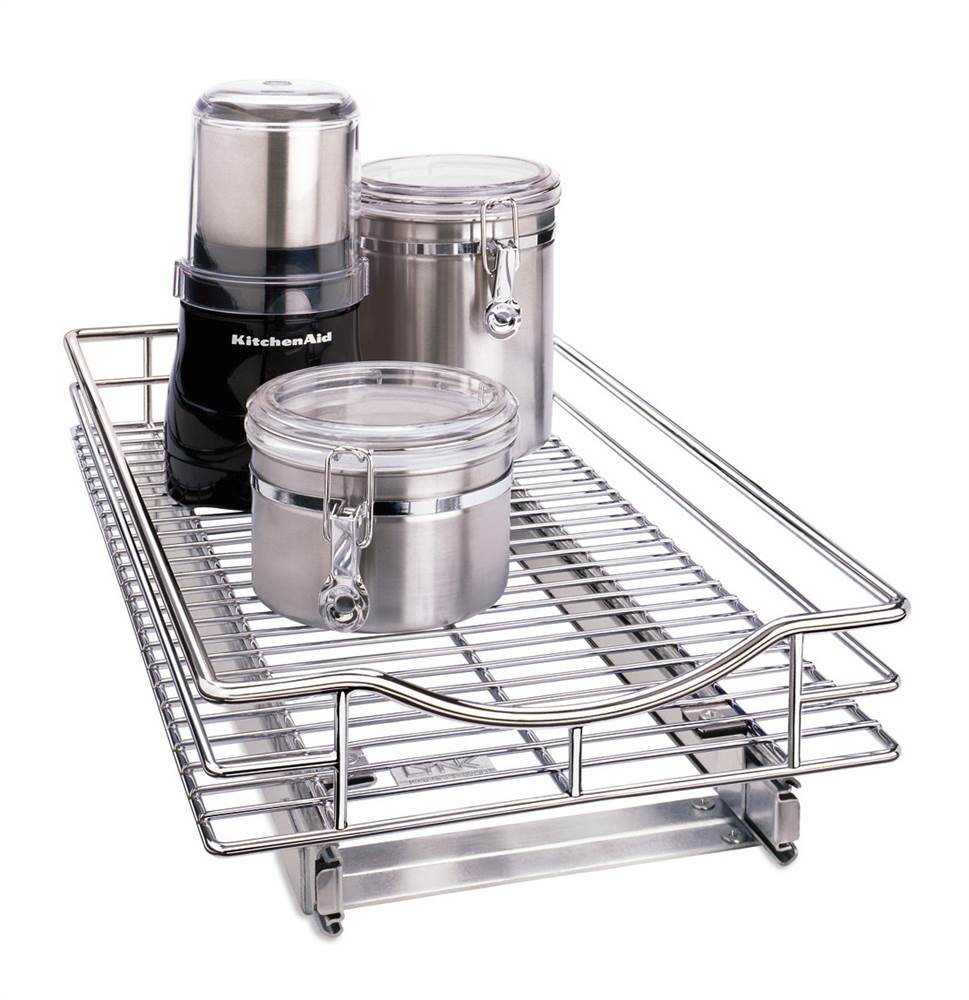 Roll-Out Cabinet Drawer in Chrome Finish (Small)