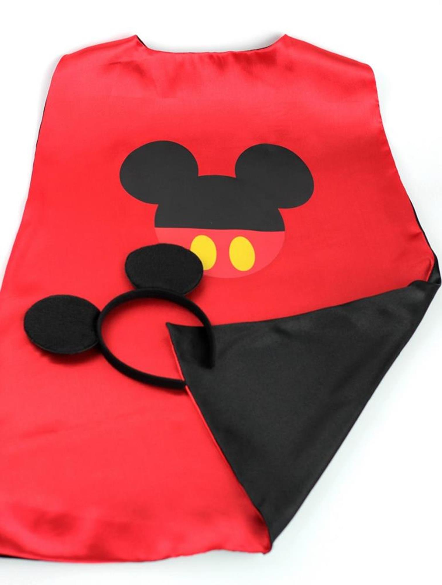 Cartoon Costume Mickey Mouse Logo Cape and Mask with Gift Box by Superheroes by