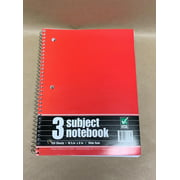 Pride Products 3 Subject Notebook, 120 Sheets, Wide Rule, Color Will Vary