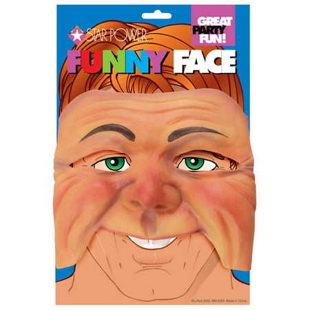 Star Power Funny Face Cheeks Costume Half Mask, Beige, One Size - Funny Face Mask