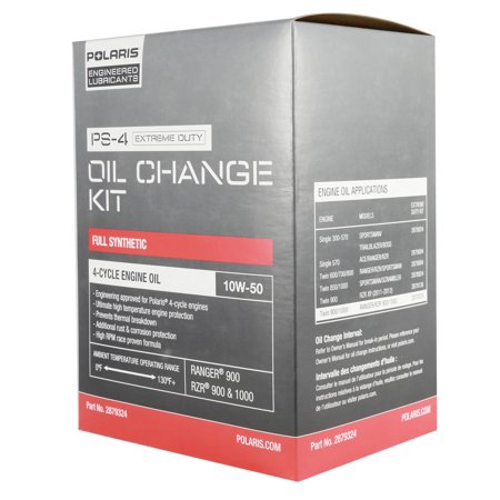 2879324 Polaris Oil Change Kit With Filter Fits 2013+ Ranger 900 & RZR XP (Best Oil For Polaris Rzr 900 Xp)