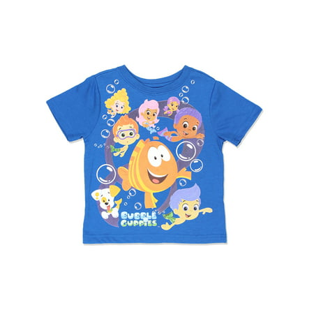 Bubble Guppies Boys Short Sleeve Blue Tee (Toddler) 7NB6365](Bubble Guppies Backpack)