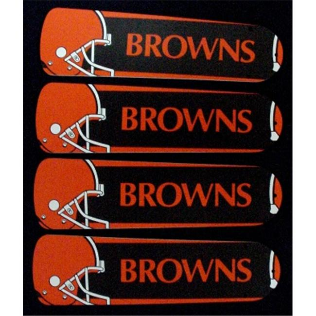 Ceiling Fan Designers 42SET-NFL-CLE NFL Cleveland Browns 42 inch Ceiling Fan Blades Only