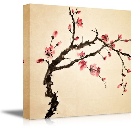 """Wall26 - Canvas Prints Wall Art - Japanese Cherry Blossoms Painting 