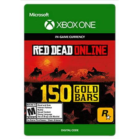 Red Dead Redemption 2 150 GOLD BARS, Rockstar Games, Xbox, [Digital Download]