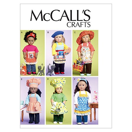 18 (46cm) Doll Clothes, Bag, Towel and Cat-One Size Only -*SEWING PATTERN* - image 1 de 1