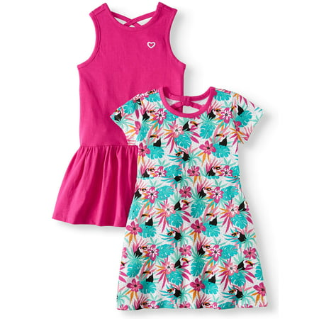 Printed and Solid Dresses, 2-Pack (Little Girls & Big Girls) - Little Girl Smocked Dresses