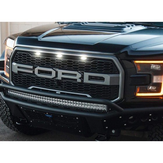 iJDMTOY Raptor LED Grille Markers DRL Enable Wiring Harness For Ford on