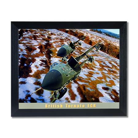 British Tornato Jet Airplane Wall Picture Black Framed Art Print ()