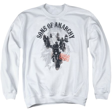 Sons Of Anarchy Crime Drama Series Reapers Ride Redwood Adult Crew Sweatshirt Ride Crew Sweatshirt