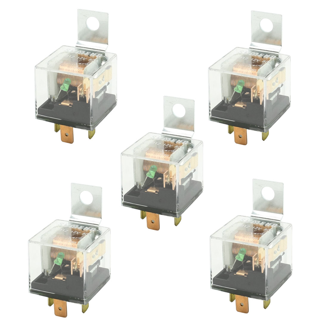 Dc 12v 80a Clear Plastic Housing Spst No Green Indicator
