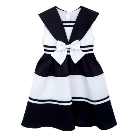 Rare Editions Big Girls Sailor Dress Nautical Stripes  10 ()