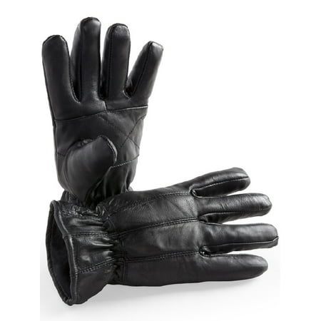 Hands On   Ld2310 Osfm  Genuine Sheepskin Leather Glove Fleece Lined  Easy Slip On Style  One Size Fits Most
