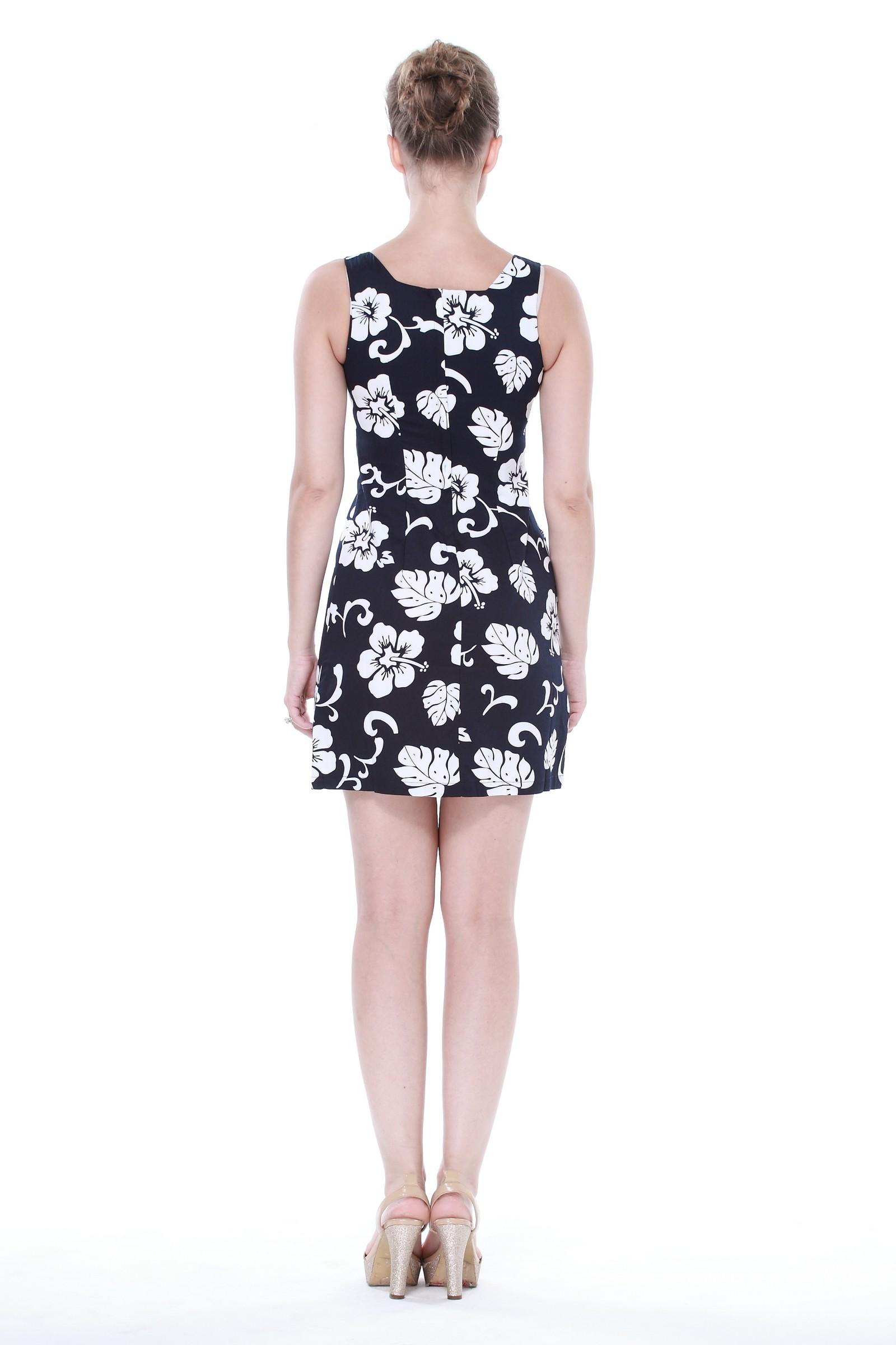 9477339d43 Hawaii Hangover - Matching Mother Daughter Hawaiian Luau Outfit Lady Tank  Dress Girl Dress PW Navy Hibiscus XL-8 - Walmart.com