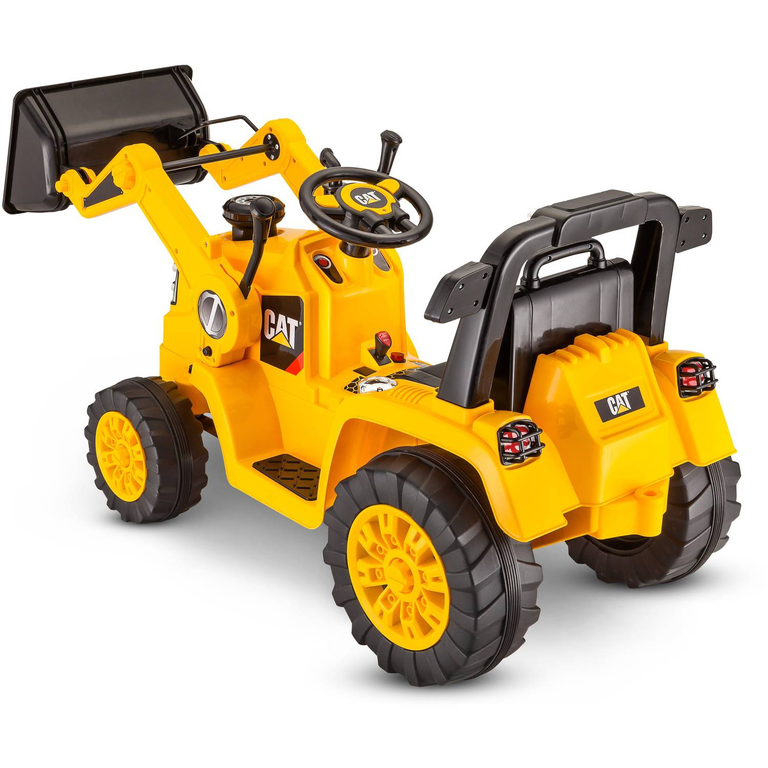 Kidtrax CAT Bulldozer Tractor 6V Battery Powered Ride Yellow