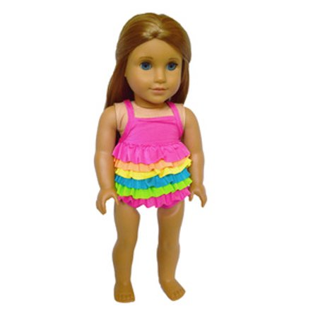 My Brittany's Frill Swimsuit for American Girl Dolls, My Life Dolls-18 Inch Doll Clothes](Chuck Taylors For Girls)