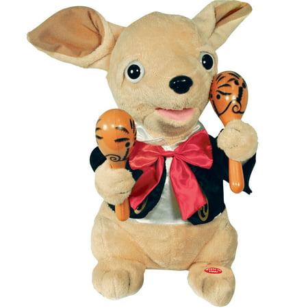 Animated Singing La Bamba Chihuahua Mariachi Doll - Plush Toy w/
