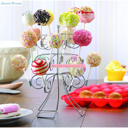 CAKE POP/LOLLIPOP STAND HOLDS 18 POPS - Holiday Cake Pops