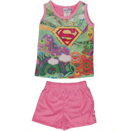 Supergirl - 2 Piece Toddler Sleep Set