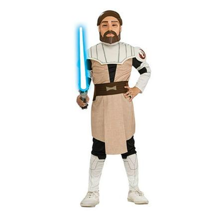 Child Obi Wan Kenobi Costume Rubies 883196, Large