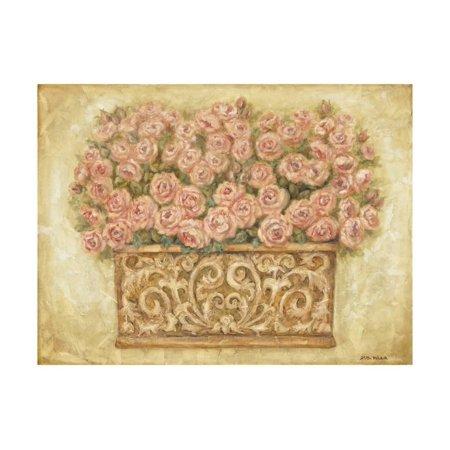 Pink Roses Print Wall Art By Eva -