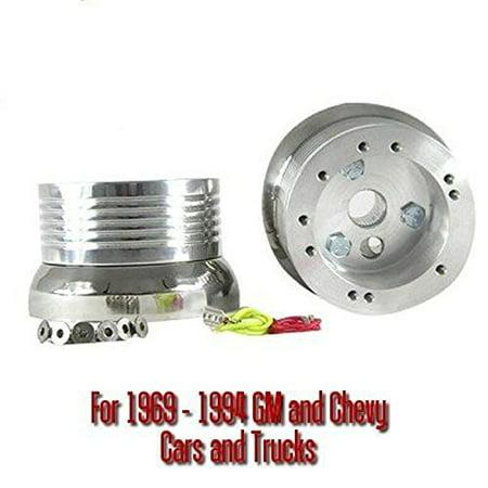 New World Motoring 5 & 6 Hole Billet Steering Wheel Adapter fits 1974 to 1994 GMC Trucks All Models