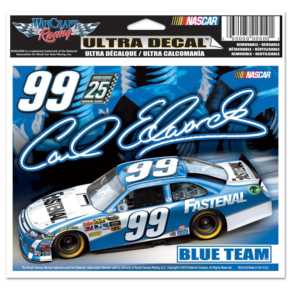 Carl Edwards Official NASCAR 4 inch x 6 inch  Car Window Cling Decal by Wincraft