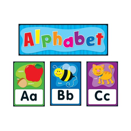 Carson-Dellosa Alphabet Bulletin Board Set 27 total pieces, pieces; 26 1 header 20 Bulletin Board Set