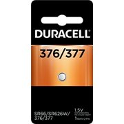 5 Pack Duracell 377 Silver Oxide Batteries 1 Each