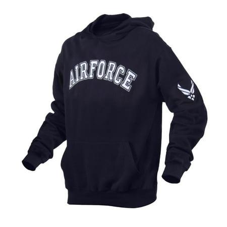 Air Force Hooded Pullover Sweatshirt, Blue Hoodie - Air Force Men Sweatshirt