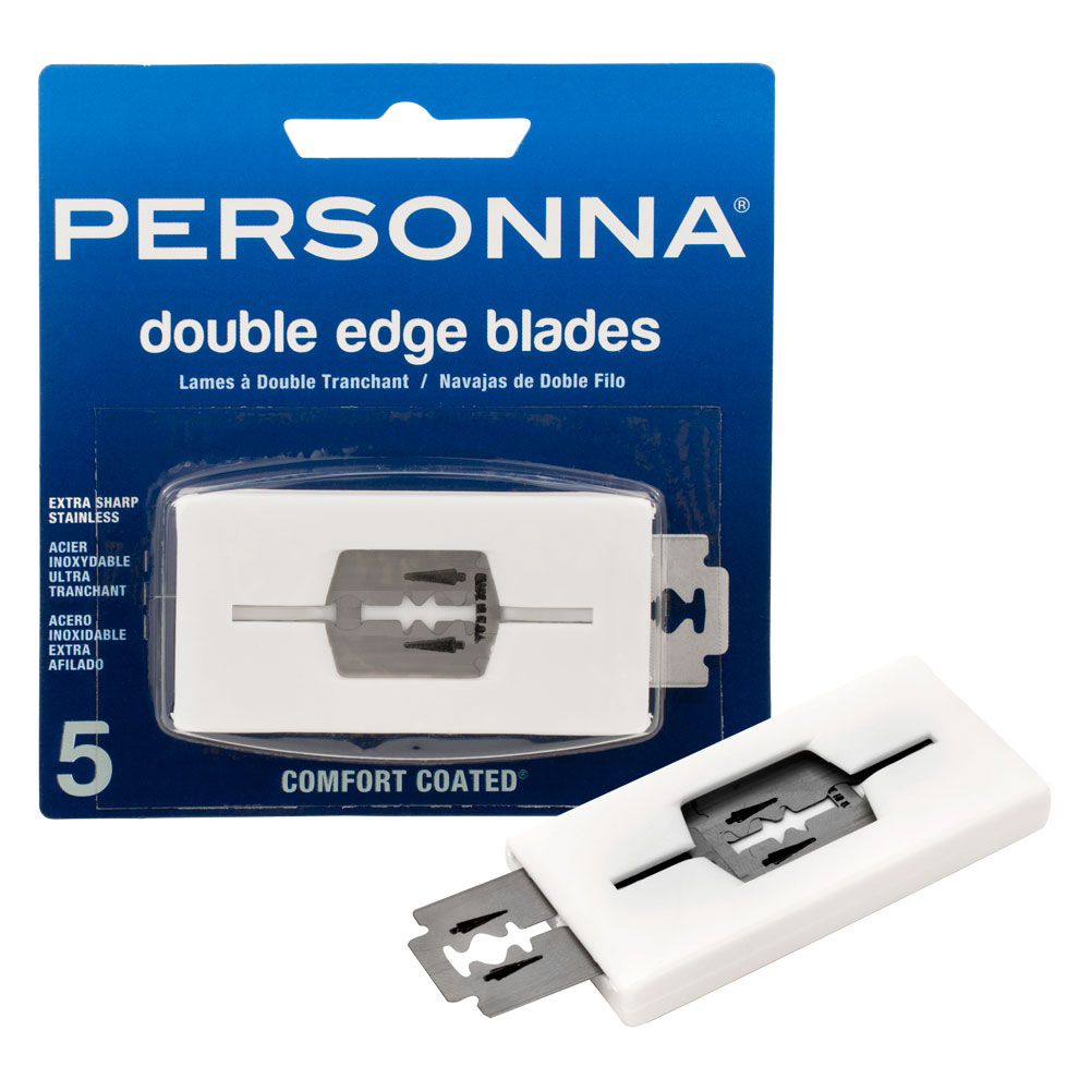 Personna 5 Pack Super Stainless Steel Double Edge Razor Blades Shaving Barber, 9010