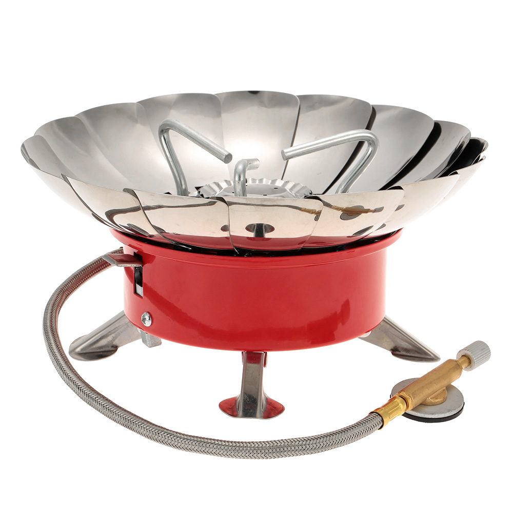 Outdoor Portable Retracted Windproof Camping Backpacking Gas Stove