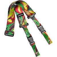 DiMarzio Steve Vai Cliplock Guitar Strap Green Universe