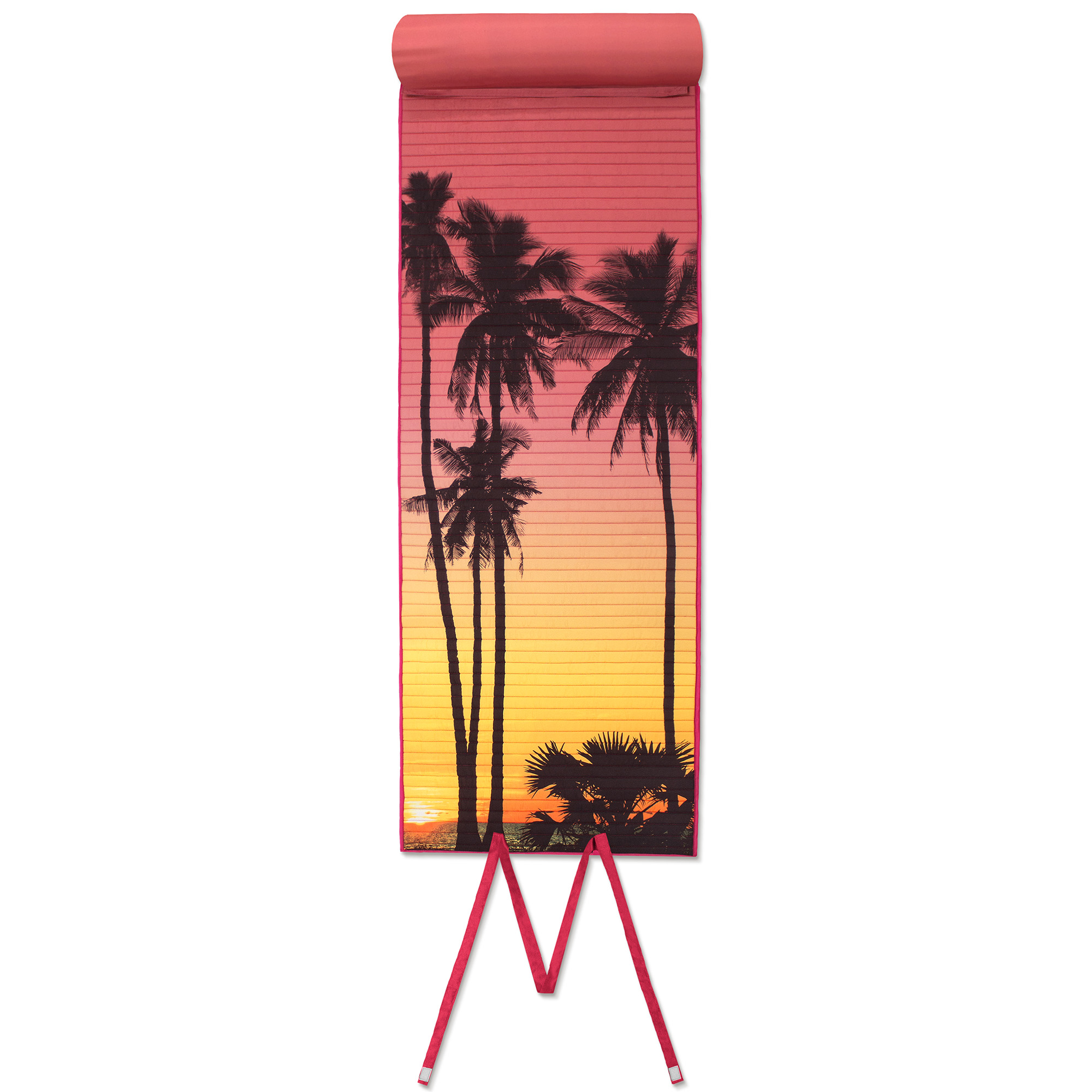 Sunset Palm Rollup Beach Mat, 1 Each