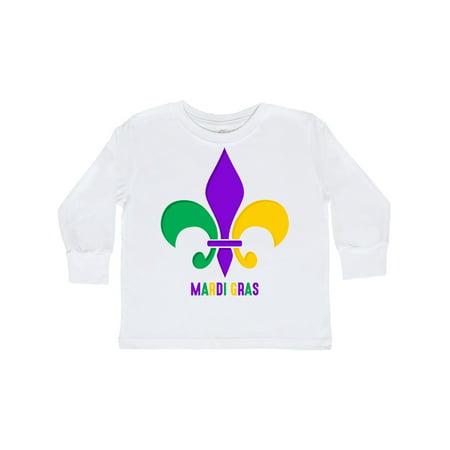 Mardi Gras Fleur De Lis Toddler Long Sleeve T-Shirt](Toddler Mardi Gras Outfits)