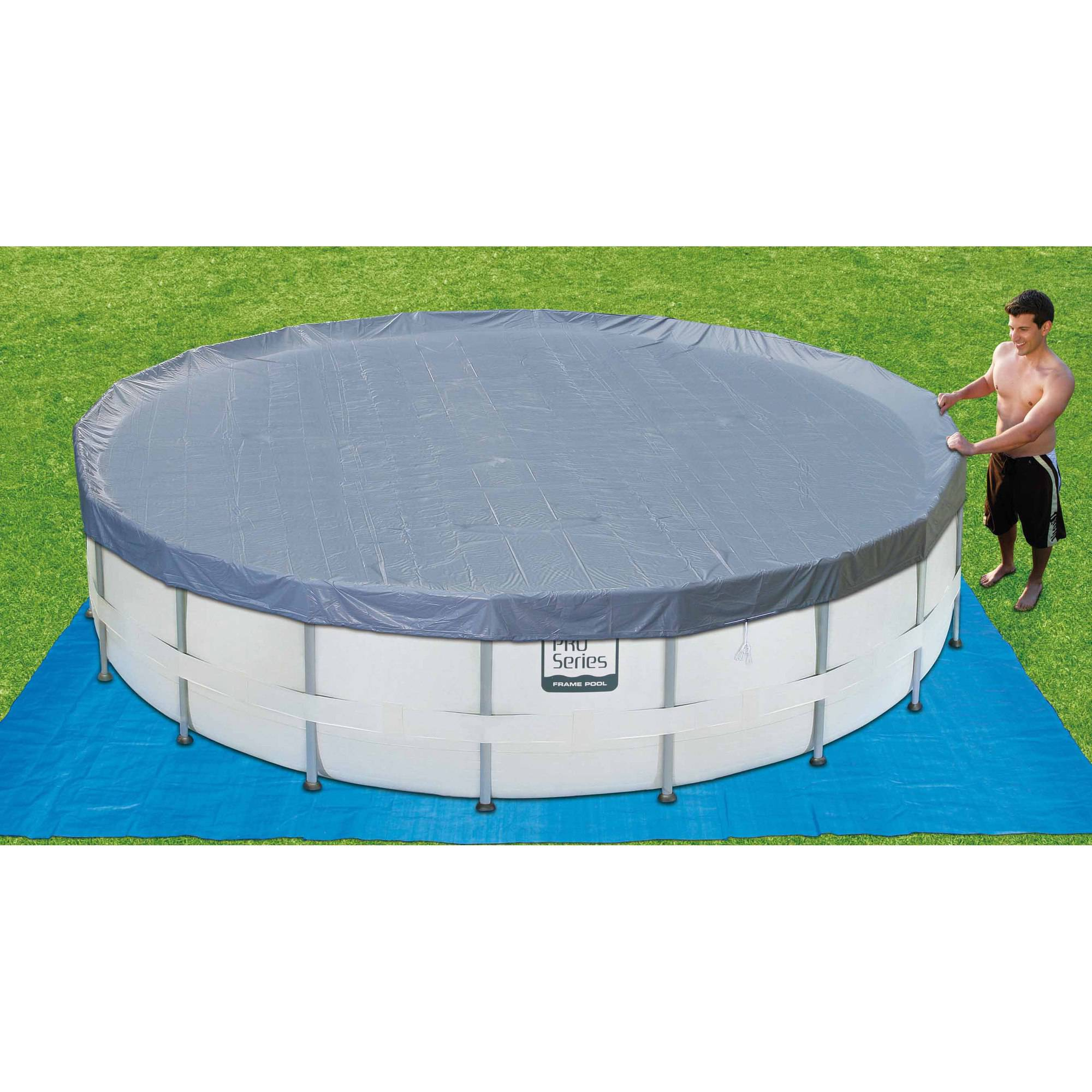 12x24 above ground pool cover round designs for Above ground pool cover ideas