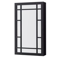 Mainstays Square Border Wall Mounted Jewelry Armoire - Black