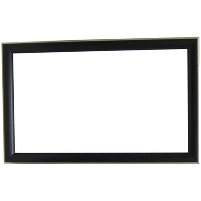 Alpine Fine Furniture 78232 Cypress Collection Black Grained with Silver Trim Wall Mirror by Alpine Art and Mirror