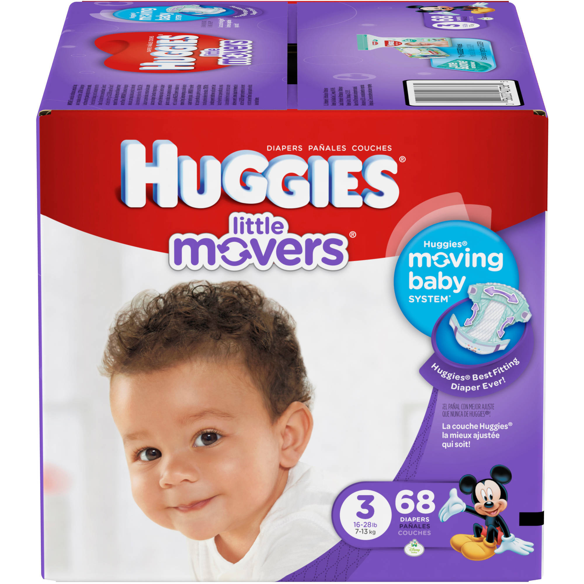 HUGGIES Little Movers Diapers, Big Pack (Choose Your Size)