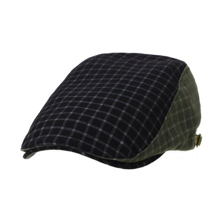 6b244316f69 WITHMOONS Ivy Cap Lattice Checks Pattern Two Block Gatsby Hat LD3909  (Black) - Walmart.com