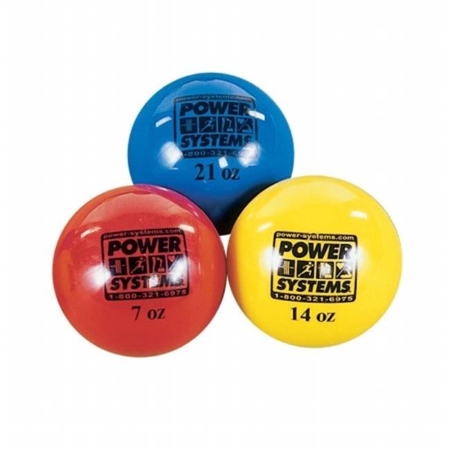 Power Systems 26021 21oz - Power Throw-Ball Baseball Medicine Ball - Blue