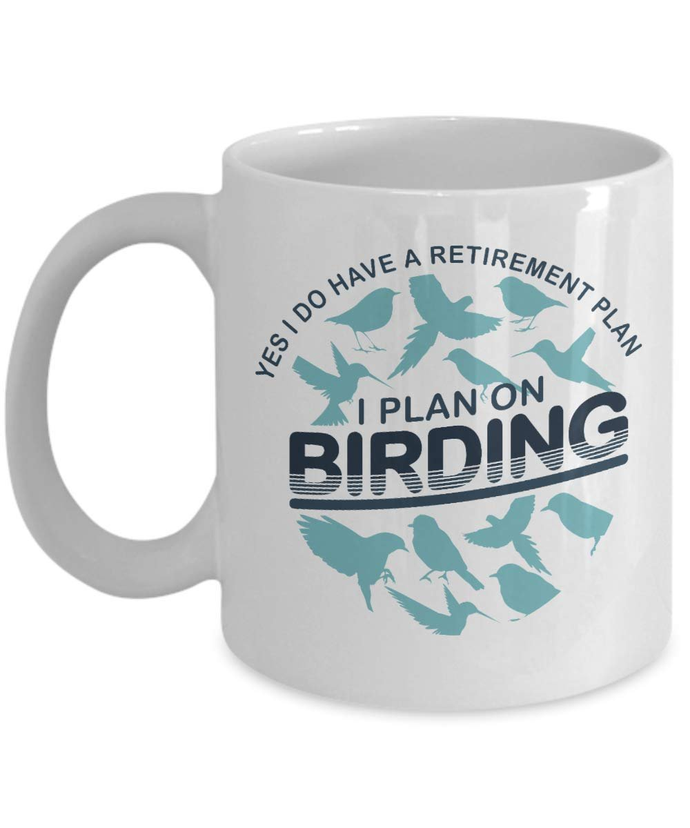 Retirement Plan Funny Birding Pun Coffee & Tea Gift Mug ...