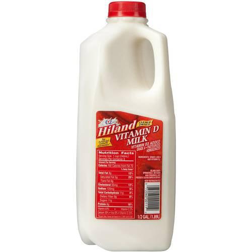 Hiland, Vitamin D Milk, Half Gallon