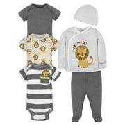 Gerber Baby Boy Take-Me-Home Set & Bodysuit Bundle, 6-Piece (Pre-3/6M)